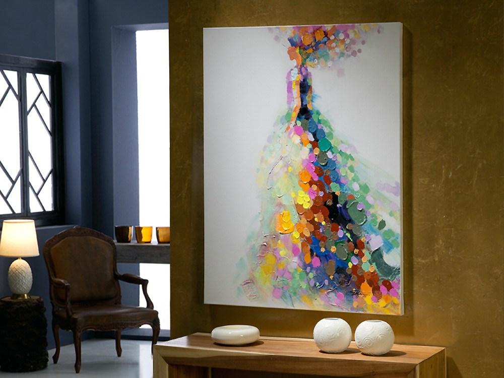 Bonito cuadro de alegres colores for Cuadros alegres para salon
