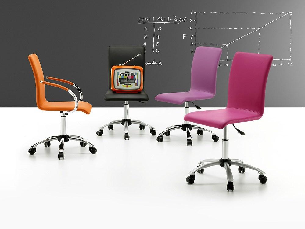 Sillas de estudio de colores con ruedas for Sillas para escritorio precios