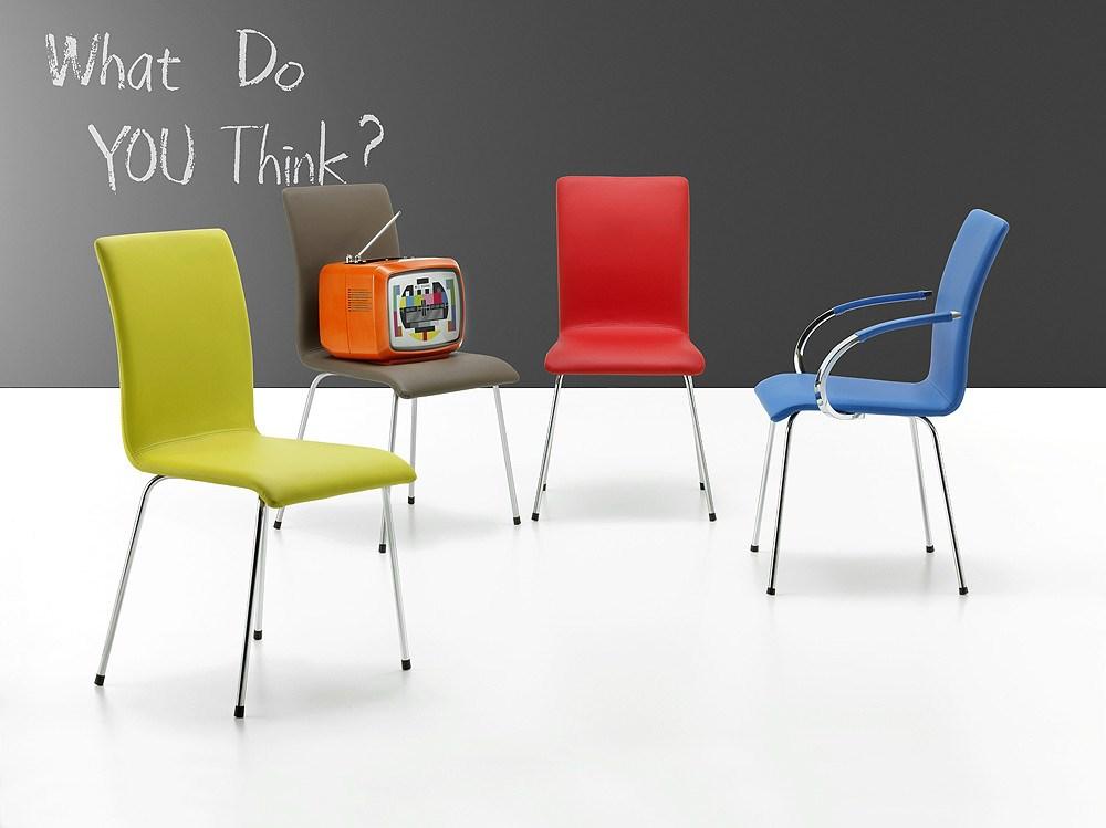 Sillas de estudio de colores con ruedas - Sillas escritorio juvenil ...